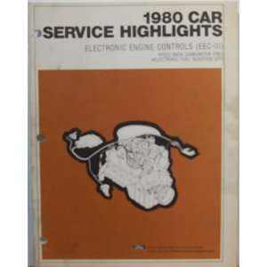 1980 Car Service Highlights Electronic Engine Controls