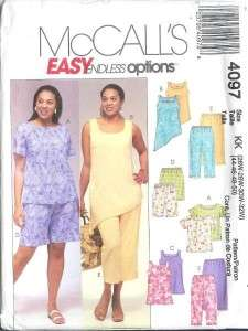 OOP McCalls Pants Outfit Separates Sewing Pattern Misses Plus Size