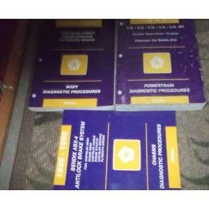 1996 Plymouth Breeze Repair Service Shop Manual Set OEM