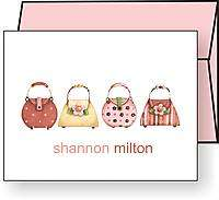 Personalized HANDBAGS / PURSES Note Cards / Stationery