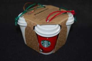 2011 Starbucks Coffee Cup Christmas Ornaments Various Logos Fortieth