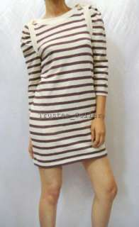 NWT Juicy Couture Striped Shoulder Sweater Dress P 0