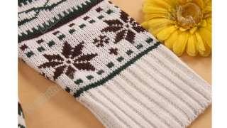 Women knit Sweater dresses Pullover Jumper Top Snowflake Deer