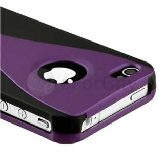 Piece Rubber Hard Plastic Case Cover+Stylus+SPT For iPhone 4 4S