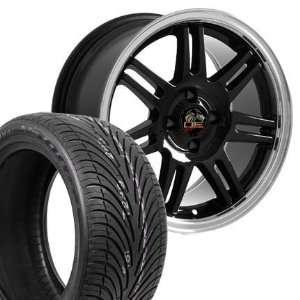 17 Fits Mustang (R) 10th Anniversary 4 Lug Style Wheels Tires   Black