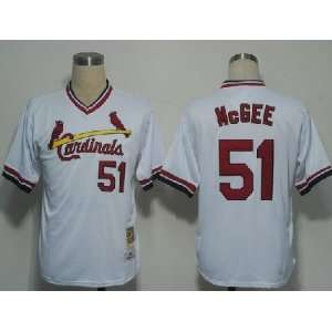 2012 New MLB St. Louis Cardinals #51 Mcgee White Jerseys