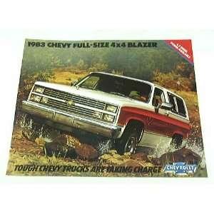 1983 83 CHEVY CHEVROLET 4WD BLAZER Truck BROCHURE K10