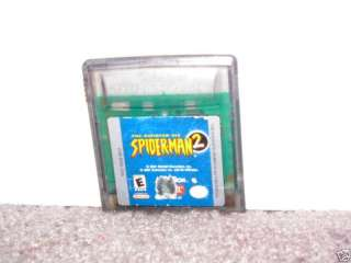 SPIDER MAN 2 SPIDERMAN 2   Nintendo Game Boy Color 047875802155