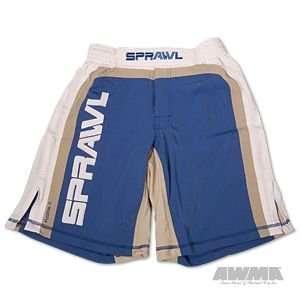 Sprawl Fusion Stretch Shorts   Blue/White/Gray Sports
