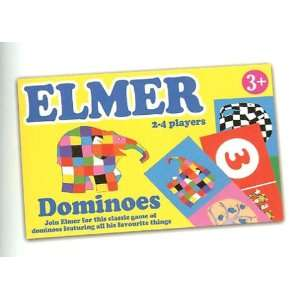 ELMER Elephant DOMINOES Game Character by David McKee Toys & Games