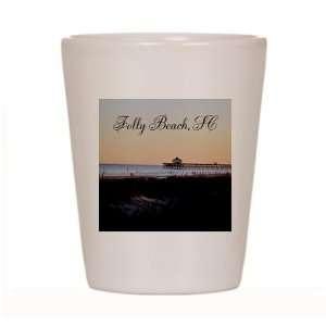 Folly Beach Pier, SC South Carolina Coast Ceramic Shot