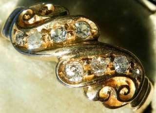 ANTIQUE VICTORIAN 18ct GOLD OLD CUT DIAMOND RING C1890