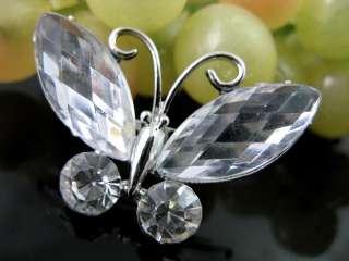 Butterfly Rhinestone Crystal&rhinestone Brooch HX0123