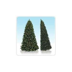 Slim Artificial Christmas Tree with Clear Lights