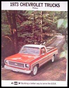 1973 Chevy Chevrolet Truck Brochure