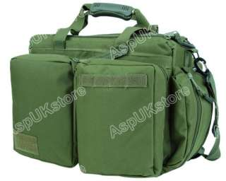 Airsoft Tactical Trip Hand Shoulder Bag Briefcase OD AG