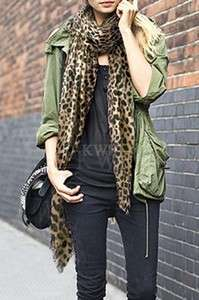 NWT LEOPARD PRINTED SCARF  2 COLOR CHOICES
