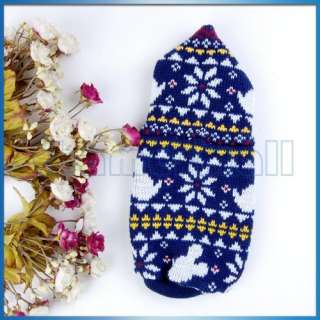 Dog Puppy Pet Hooded Sweater Knit Apparel Clothes New