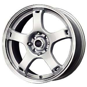 MB Wheels Drifter Silver Machined Wheel (17x7/4x100mm