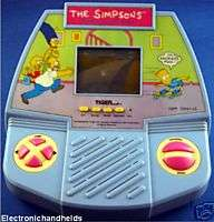 TIGER ELECTRONIC THE SIMPSONS HANDHELD TABLETOP GAME