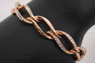 Silver Rose Gold Parallelogram shaped RHINESTONE Buckle
