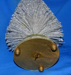 VINTAGE WHITE GLITTER BRUSH TREE, MUSIC BOX, PLAYS SILENT NIGHT