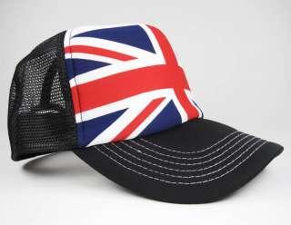 UK Union Jack BRITISH Flag def Leppard Mesh Trucker Hat