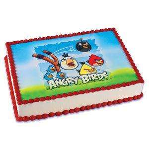 Angry Birds Edible Image ~ Edible Image Icing Cake Topper ~ LOOK