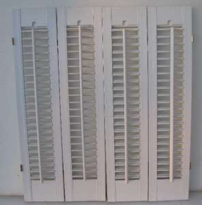 Set Of Louvered Interior Window Shutters 24 1 2 X 28