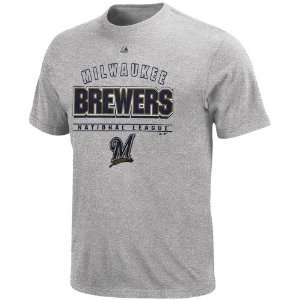 Majestic Milwaukee Brewers Opponent T Shirt   Ash