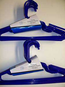 MAINSTAY 20 PACK CHILDRENS CLOTHES HANGERS BLUE NEW
