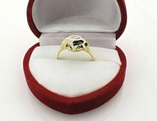 Art Deco Vintage 14k Yellow Gold Diamond Ring size 5.5
