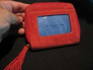 Kenneth Cole Reaction Leather Wallet,Red