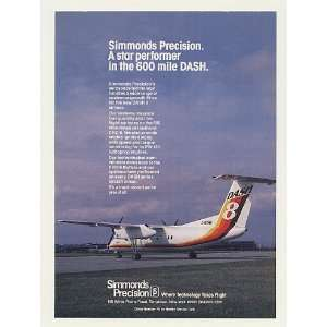 1983 de Havilland Dash 8 Aircraft Simmonds Precision Print