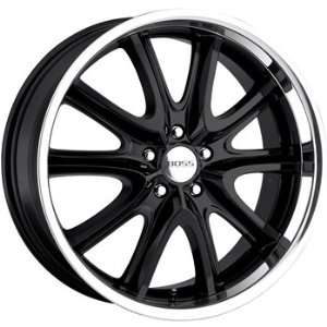 Boss 336 20x8.5 Black Wheel / Rim 5x4.5 with a 28mm Offset and a 82.80