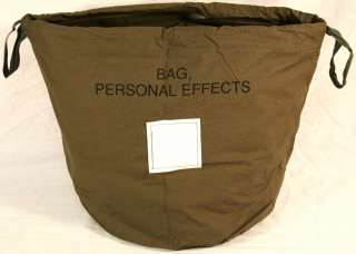 US MILITARY PATIENTS PERSONAL EFFECTS BAG ARMY USMC NEW