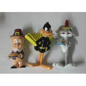 Set of 3 Pvc Figures Daffy Duck Bugs Bunny Porky Pig Everything Else