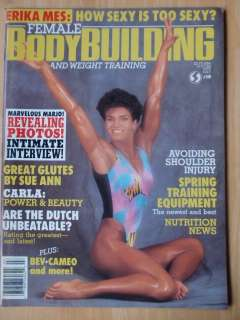 FEMALE BODYBUILDING muscle mag #10/MARJO SELIN 7 88