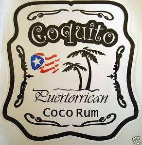Puerto Rico Coquito Rum Decal Sticker