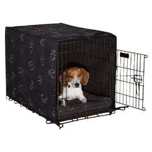 Dog Crate Cover and Bed Set, Small, 2 Pack, Black