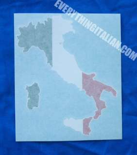 Italian Flag Boot Vinyl Window Decal