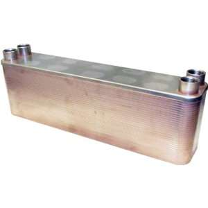 Plate 1 Female NPT Stainless Steel Copper Brazed Plate Heat Exchanger