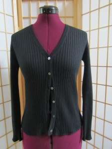 Womens Banana Republic Black Silk Cashmere Cardigan Sweater XS