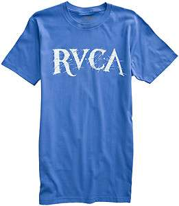 RVCA Scratched SS Tee New Grey Royal Or White