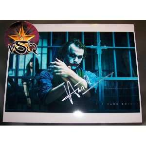 The Dark Knight Signed By Heath Ledger Autographed Collectible The