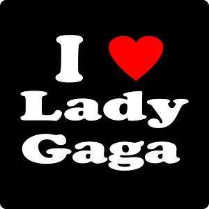 New I LOVE LADY GAGA T Shirt Pop Punk Rock Dance Heart