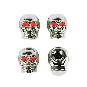 Cd/4 x 7 Custom Accessories Skull Valve Caps (16220