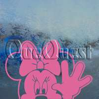 MINNIE MOUSE WAVE Decal Car Truck Window Sticker