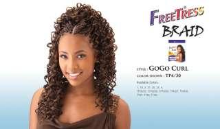 GOGO CURL BY FREETRESS BULK KANEKALON CURLY BRAIDING HAIR