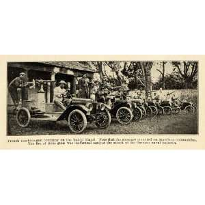 1914 Print French Machine Guns Antique Cars Tahiti World